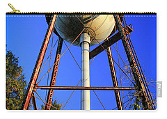 Carry-all Pouch featuring the photograph Weighty Water Cotton Mill  Water Tower Art by Reid Callaway