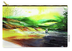 Carry-all Pouch featuring the painting Welcome Back by Anil Nene