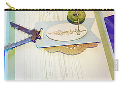 Welcome New Baby Handmade Stationary Carry-all Pouch