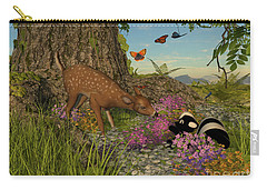 Carry-all Pouch featuring the digital art Welcome Spring by Methune Hively