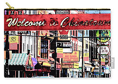 Welcome To Chinatown Sign Red Carry-all Pouch