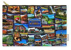 Carry-all Pouch featuring the digital art Welcome To Harrison Arkansas by Kathy Tarochione
