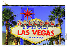 Welcome To Las Vegas Carry-all Pouch by Anthony Sacco