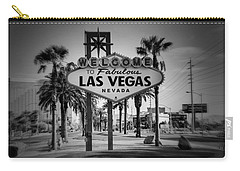 Welcome To Las Vegas Series Holga Black And White Carry-all Pouch