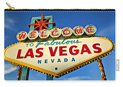 Welcome To Las Vegas Sign Carry-all Pouch by Garry Gay