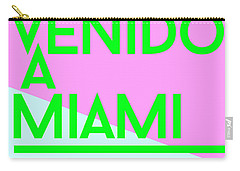 welcome to Miami Carry-all Pouch by Cortney Herron