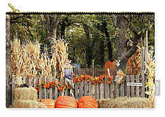 Carry-all Pouch featuring the photograph Welcome To The Pumpkin Patch by Sheila Brown