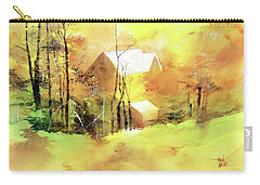 Carry-all Pouch featuring the painting Welcome Winter by Anil Nene
