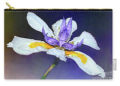 Carry-all Pouch featuring the photograph Welcoming Iris By Kaye Menner by Kaye Menner
