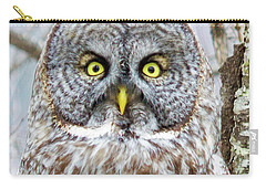 Well Hello - Great Gray Owl Carry-all Pouch