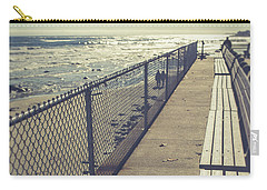 Carry-all Pouch featuring the photograph Wells Beach Maine by Edward Fielding