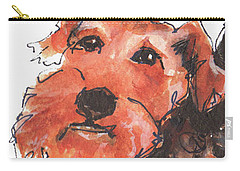 Welsh Terrier Or Schnauzer Watercolor Painting By Kmcelwaine Carry-all Pouch