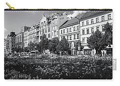 Carry-all Pouch featuring the photograph Wenceslas Square In Prague by Jenny Rainbow