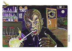 Werewolf Drinking A Pina Colada At Trader Vic's Carry-all Pouch