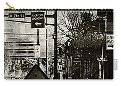 Carry-all Pouch featuring the photograph West 7th Street by Susan Stone