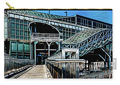 Carry-all Pouch featuring the photograph West 8th Street New York Aquarium Subway Station by Chris Lord