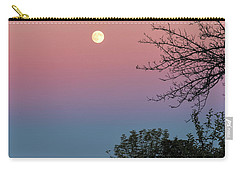 Carry-all Pouch featuring the photograph West Brattleboro Full Moon by Tom Singleton