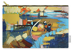 Carry-all Pouch featuring the painting West End Blues by Erin Fickert-Rowland