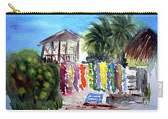 Carry-all Pouch featuring the painting West End Market by Donna Walsh