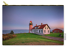 Carry-all Pouch featuring the photograph West Quoddy Head Light At Dusk by Rick Berk