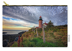Carry-all Pouch featuring the photograph West Quoddy Head Light Station by Rick Berk
