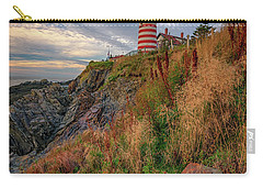Carry-all Pouch featuring the photograph West Quoddy Head Lighthouse by Rick Berk