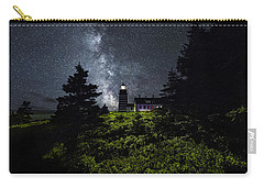 West Quoddy Head Lighthouse With Milky Way Starscape Carry-all Pouch