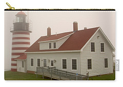 West Quoddy In Fog Carry-all Pouch by Brent L Ander