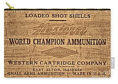 Western Ammunition Box Carry-all Pouch by American West Legend By Olivier Le Queinec