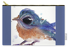 Carry-all Pouch featuring the painting Western Bluebird by Dawn Derman