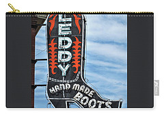 Carry-all Pouch featuring the photograph Western Boot Sign by David and Carol Kelly