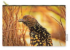 Western Bowerbird Carry-all Pouch by Racheal  Christian