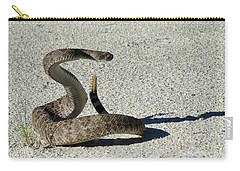Western Diamondback Rattlesnake Carry-all Pouch by Skeeze
