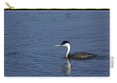 Western Grebe In Late Afternoon Light Carry-all Pouch