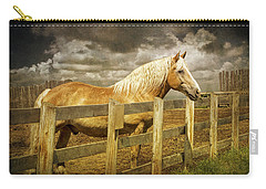 Western Horse In Alberta Canada Carry-all Pouch