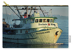 Carry-all Pouch featuring the photograph Western King At Breakwater by Randy Hall