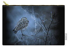Carry-all Pouch featuring the photograph Western Owl Gloom by Rikk Flohr