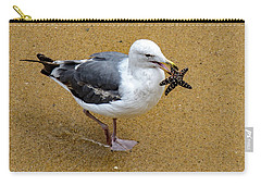 Western Seagull Carrying A Starfish Carry-all Pouch