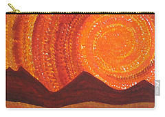 Western Sky Wave Original Painting Carry-all Pouch