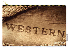 Western Stamp Branding Carry-all Pouch