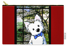 Westie At Dogwood Window Carry-all Pouch