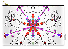 Westie Kaleidoscope Carry-all Pouch by Debra Baldwin