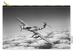 Carry-all Pouch featuring the photograph Westland Whirlwind Portrait Black And White Version by Gary Eason