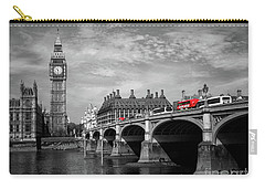 Westminster Bridge And Big Ben London Carry-all Pouch by Lynn Bolt