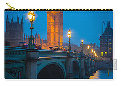 Westminster Bridge At Night Carry-all Pouch