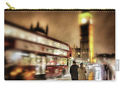 Westminster Bridge In Rain Carry-all Pouch