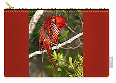 Wet Cardinal Carry-all Pouch