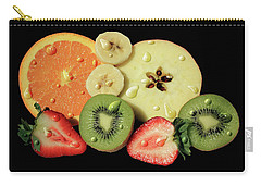 Carry-all Pouch featuring the photograph Wet Fruit by Shane Bechler
