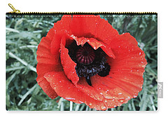 Wet Poppy Carry-all Pouch
