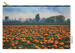 Carry-all Pouch featuring the photograph Wet Pumpkin Patch by Ken Stanback
